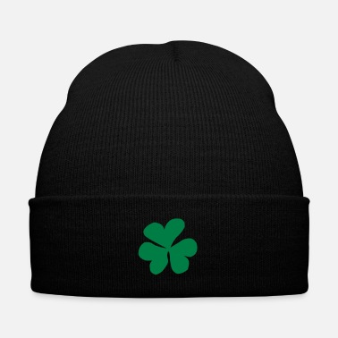 Meadow Clover, Clover leaf, Shamrock - Knit Cap with Cuff Print