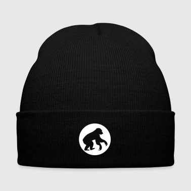Monkey - Chimpanzee - Knit Cap with Cuff Print