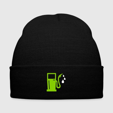 gas station - petrol pump - petrol - Knit Cap with Cuff Print