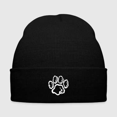 Dog paw Gift Dog Love - Knit Cap with Cuff Print