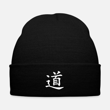 Chinese Symbols dao - Knit Cap with Cuff Print