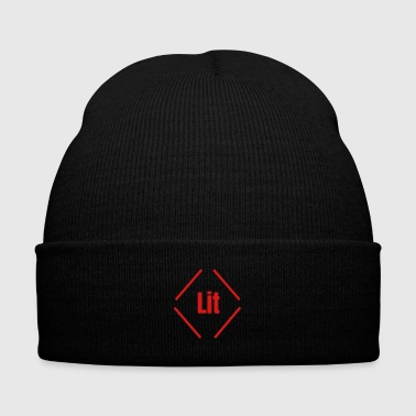 Lit Lit - Knit Cap with Cuff Print