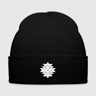 Triangles - Knit Cap with Cuff Print