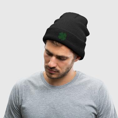 8 Bit Luck Pixel Four Leaf Clover - Knit Cap with Cuff Print