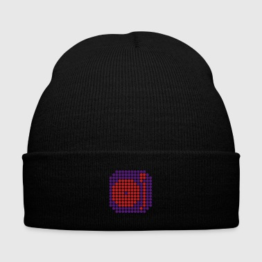 DOTTED MIXER (v) - Knit Cap with Cuff Print