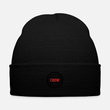 Career crew team button - Knit Cap with Cuff Print
