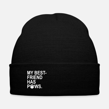 Paw My Best Friend Has Paws - Knit Cap with Cuff Print