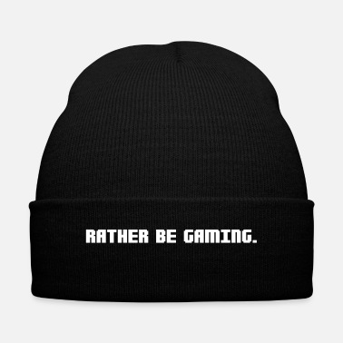 Game RATHER BE GAMING - Knit Cap with Cuff Print