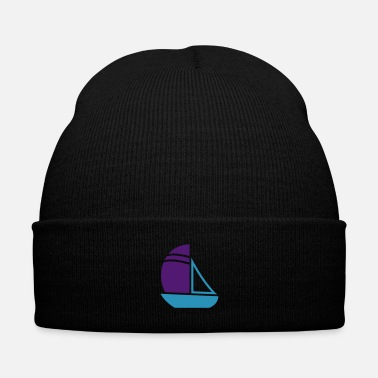 Captain Sailboat - Knit Cap with Cuff Print