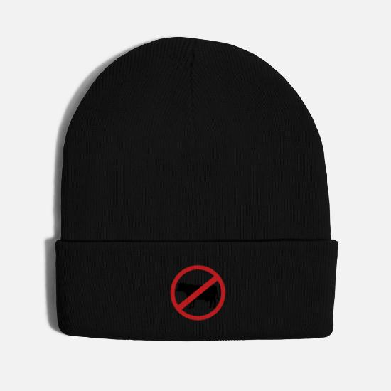 Vegan Caps - Cow - No meat or steak - Knit Cap black