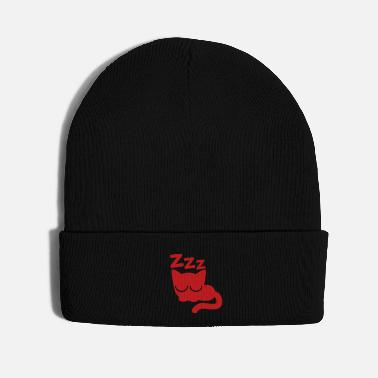 Cheers Cute Asleep Cartoon Cat by Cheerful Madness!! - Knit Cap