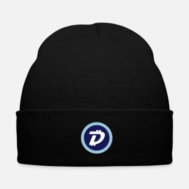 Knit DigiByte Logo Knit Hat - Knit Cap with Cuff Print