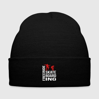 Freeride Skateboarding - Knit Cap with Cuff Print