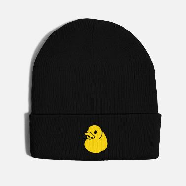 Duck Bath Duck, Rubber Duck, Squeaky Duck, Popart Duck - Knit Cap