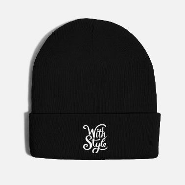 Calm With Style! Cool & Trendy Typography Design  - Knit Cap