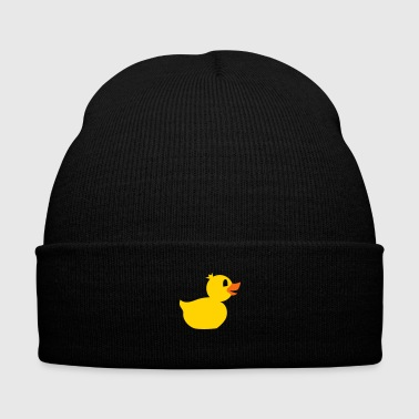 rubber duck toy - Knit Cap with Cuff Print