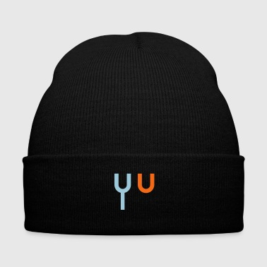 fork u - Knit Cap with Cuff Print