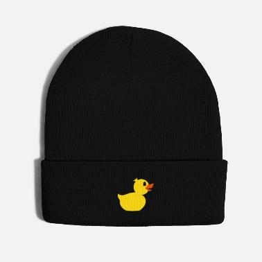 Funny Duck rubber duck toy - Knit Cap