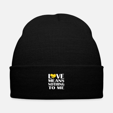 Girl Love Means Nothing Tennis - Knit Cap with Cuff Print