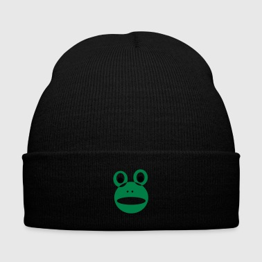 frog - Knit Cap with Cuff Print