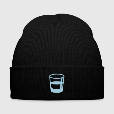 glass shot - Knit Cap with Cuff Print