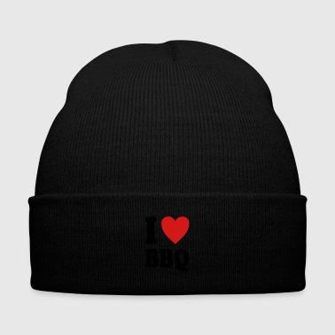 I love BBQ (variable colors!) - Knit Cap with Cuff Print