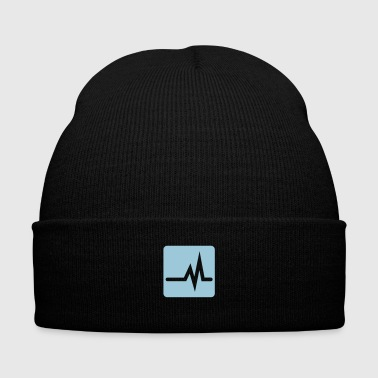 Heartbeat or Equalizer wave - Knit Cap with Cuff Print