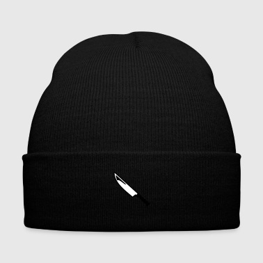 Knife - Knit Cap with Cuff Print
