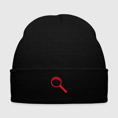 magnifying glass - Knit Cap with Cuff Print
