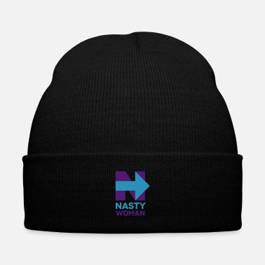 Democrat Nasty Woman - Knit Cap with Cuff Print