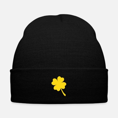 Luck FOUR LEAF CLOVER - Knit Cap with Cuff Print