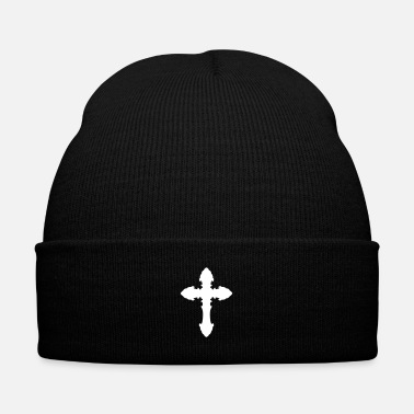 Jesus Cross 15 - Knit Cap with Cuff Print