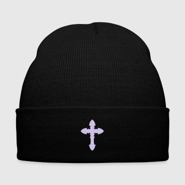 Cross 15 - Knit Cap with Cuff Print