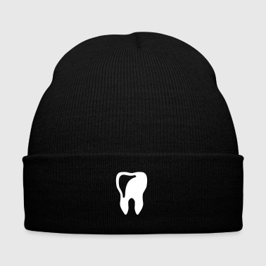 tooth - dentist - Knit Cap with Cuff Print