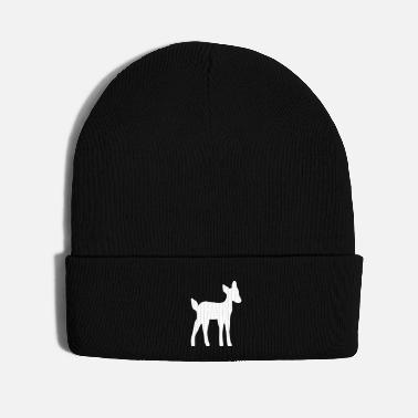 Children Fawn roe deer child roe deer silhouette gift - Knit Cap