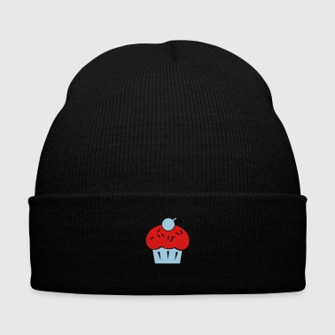 cupcake - Knit Cap with Cuff Print