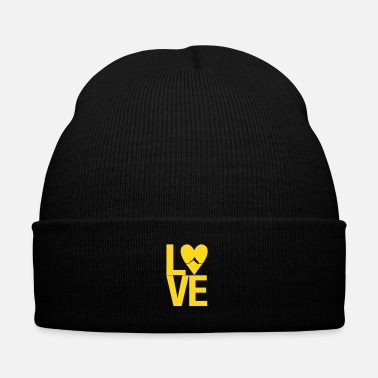 Outdoor Mountain love - outdoor hiking design - Knit Cap with Cuff Print