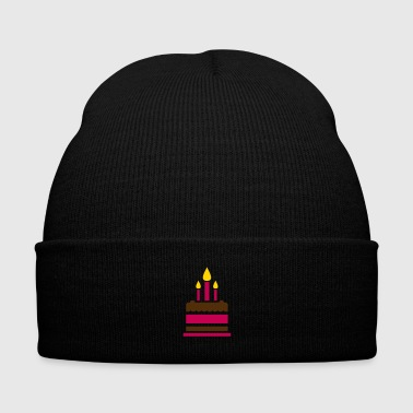 Birthday cake - Knit Cap with Cuff Print
