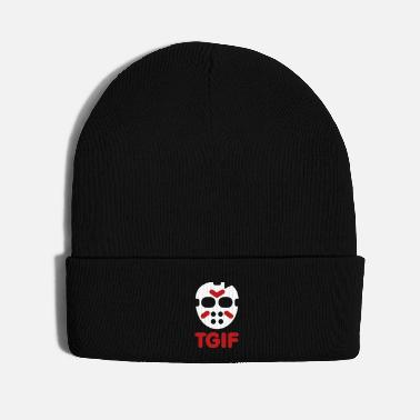 Friday TGIF - Thank God it's Friday the 13th Halloween - Knit Cap