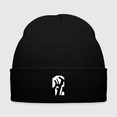 Shapes1 B&W - Knit Cap with Cuff Print