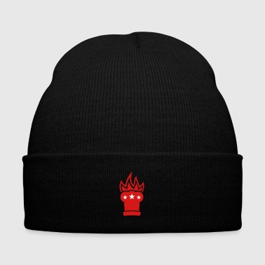 Chef's hat in flames - Knit Cap with Cuff Print