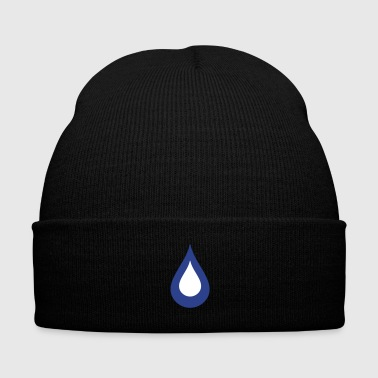 drop of water - Knit Cap with Cuff Print