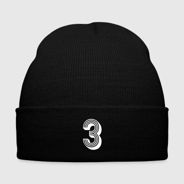Number 3 Jersey Age Birthday Cool Gift Nice Great - Knit Cap with Cuff Print