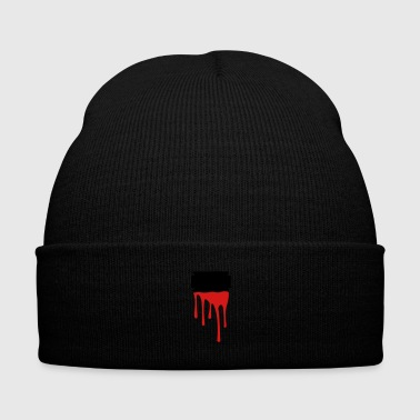 razor blade blood - Knit Cap with Cuff Print