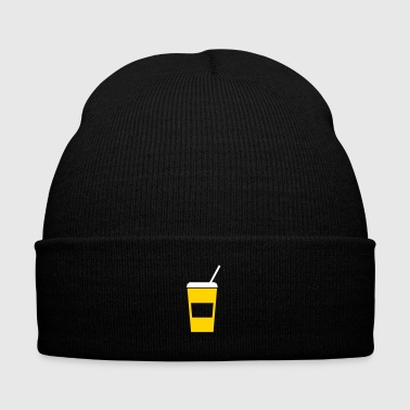 softdrink - drink - drinking straw - Knit Cap with Cuff Print