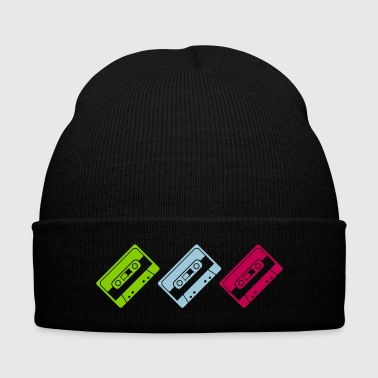 coloured tapes - Knit Cap with Cuff Print