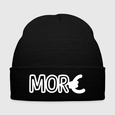 Euro More Money - Knit Cap with Cuff Print