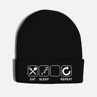 Picture Eat Sleep...(Put your picture and text) - Knit Cap