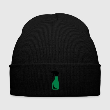 bottle - water - spray bottle - Knit Cap with Cuff Print