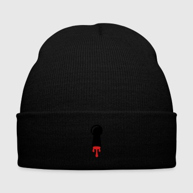 Keyhole with blood - Knit Cap with Cuff Print